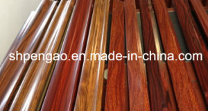 Elegant Red Sandalwood Wood-Grain Al Profile