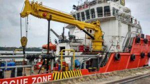 Heavy-Duty Hydraulic Marine Deck Crane pictures & photos