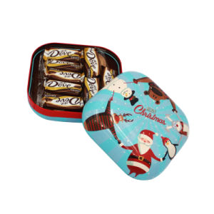 Hight Quality Export Square Mini Cookie Tin Box (S001-V13) pictures & photos