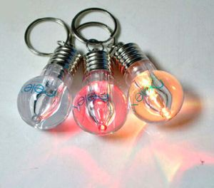 Cute LED Flashlight Bulb Keychain with Logo Printed (4058) pictures & photos