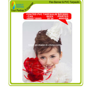 Lacqured PVC Tarpaulin (TWO SIDES PRINTING) pictures & photos