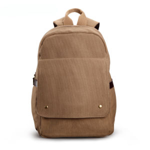 Durable Plain Cotton Backpack Vintage School Bag Outdoor Sh-15113086 pictures & photos