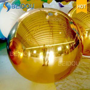 Festival Events Stage Decorative Mirror Balls Gold Mini Disco Inflatable Mirror Ball