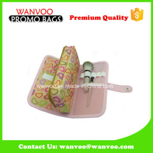 Flat Foldable Cosmetic Bag With Two Zipper pictures & photos