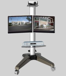 Dual Screen Heavy Duty Wheeled Monitor Mount Stand (PSF207) pictures & photos