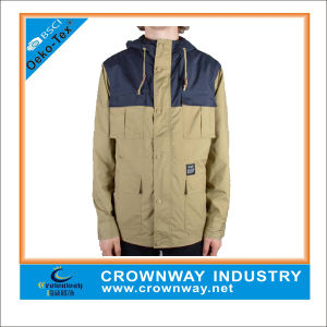 Fashional Casual Winter Men Long Khaki Parka pictures & photos