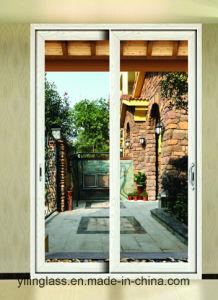 Wooden Grain Aluminum Sliding Door pictures & photos