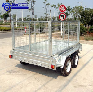 Galvanized Quality Trustworthy Tandem Box Trailer pictures & photos