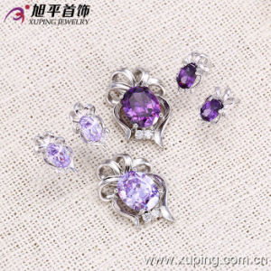 Xuping Fashion Silver Jewelry Set with Synthetic CZ (62562) pictures & photos