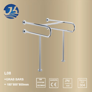 Bathroom Stainless Steel U-Shaped Safety Grab Bar for Hospital (L08) pictures & photos