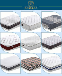 Euro Pillow Top Pocket Spring Mattress with Organic Bamboo Charcal Fabric pictures & photos