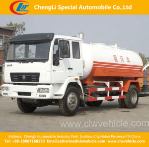 Heavy Duty HOWO 4X2 High Pressure Sewage Suction Truck pictures & photos
