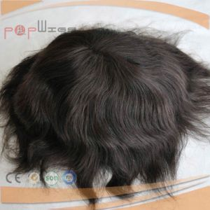 Human Indian Hair Mens Wig (PPG-l-01881) pictures & photos