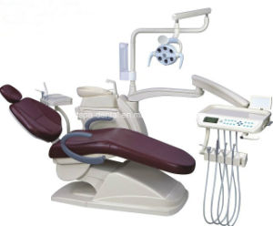 Luxury Dental Unit with LED Lamp Dental Chair Unit Dental Equipment pictures & photos