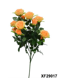 Artificial/Plastic/Silk Flower Single Stem of Rose with 6 Branches (XF29017) pictures & photos