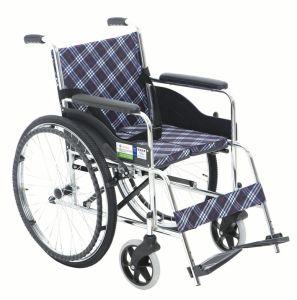 Chrome Hard Cushion Steel Wheelchair