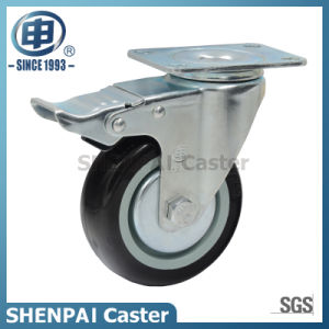 "5"" Super Polyurethane Swivel Locking Caster Wheel pictures & photos"
