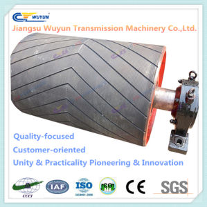 Steel Rubber Coated Roller, Gravity Conveyor Roller Pulley Drum pictures & photos