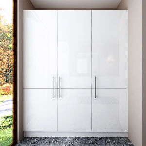 Australia White High Gloss Lacquer Wooden Laundry Room Cabinets (OPW-L02) pictures & photos