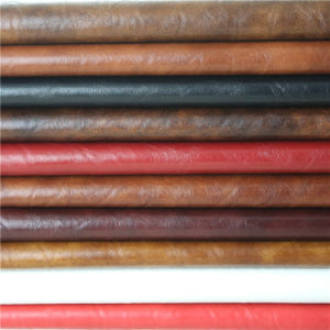 Superior Quality High Abrasion-Resistant Waterproof PU PVC Leather for Sofa pictures & photos