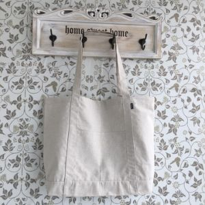 Promotional Hot Sale Hemp Shopping Bag with Pocket Outside pictures & photos