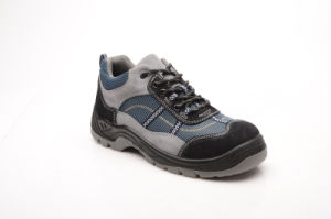 Sports Style Suede Leather & Oxford Fabric Safety Shoes (HQ05067) pictures & photos