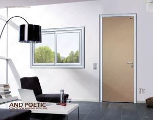 Single Wood Bedrooom Door, Single Interior Woodon Door, Slap-up Aluminum Bathroom Doors pictures & photos