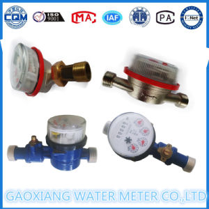 Brass Valve Control Single Jet Dry Type Water Meter pictures & photos
