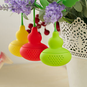 New Fashion Calabash Shape FDA Standard Silicone Tea Bag Infuser pictures & photos