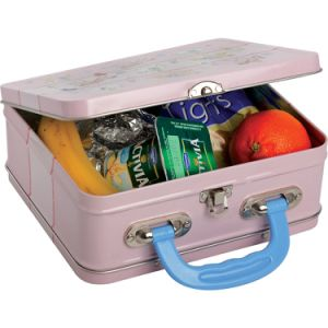 Handle Food Storage Tin Box with Competitive Price pictures & photos