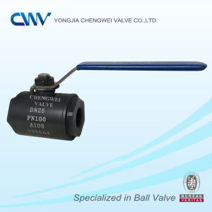 Carbon Steel A105 2PC Floating Ball Valve with Nptf End