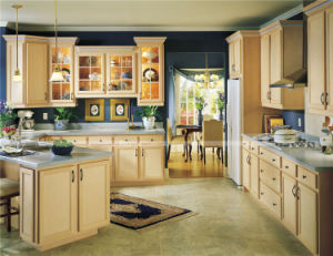 American Standard MDF Carcase PVC Door Panel Kitchen Cabinet pictures & photos