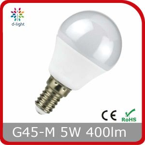 LED Lamp G45m 5W E27 Base Plastic with Aluminum Inside