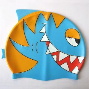 Silicone Cartoon Swimming Cap in Fish Design pictures & photos