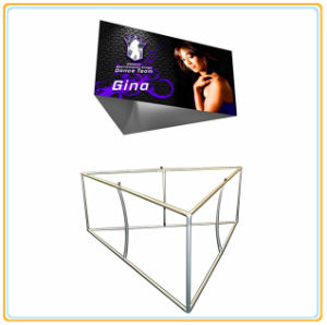 Triangular Hanging Sign Banner with Stretch Fabric Graphics (20ft) pictures & photos