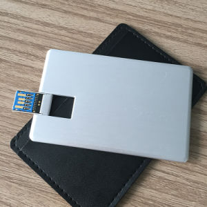 16GB/32GB/64GB USB 3.0 Metal USB Bussiness Card with Real Capacity (YT-3101-03) pictures & photos