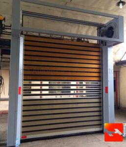 Security Insulated Heat Retaining Metal Safe Roller Shutter Door (HF-J321) pictures & photos