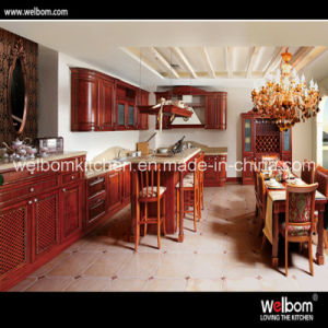 2016 Welbom Luxury Design Antique Wooden Kitchen Cabinet pictures & photos