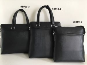 Guangzhou Suppliers Designer Leather Men Business Handbag Set (98019-1) pictures & photos