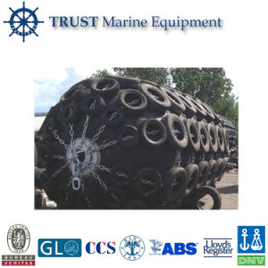 Marine Pneumatic Rubber Fender with Galvanized Chain and Tire pictures & photos