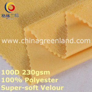 100%Polyester Knitted Super-Soft Velour Fabric for Textile Blouse (GLLML398) pictures & photos