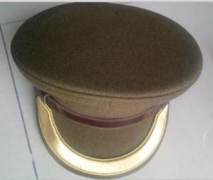 Military Caps/Polyester and Wool Police Cap pictures & photos