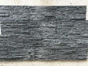 China Black Marble Culture Stone Wall Cladding on Sell pictures & photos