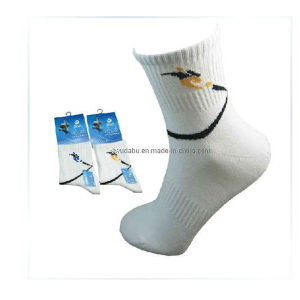 White Cotton Sports Socks for Men