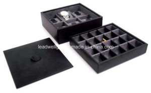 Leather Valet Jewelry Case Chest Color (Black) pictures & photos