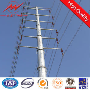 45FT Ngcp Galvanized Electric Steel Pole pictures & photos