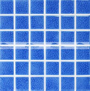 48X48mm Blue Carckle Glazed Ceramic Pool Mosaic Tile (BCK661)