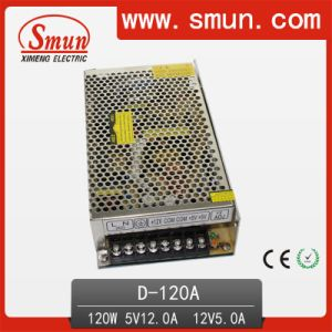 120W Dual Output Switching Power Supply 5V 12V (D-120A 5V12V) pictures & photos