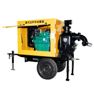 Movable Trash Diesel Water Pump with Trailer pictures & photos