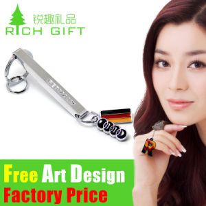 Metal/PVC/Leather Custom Gift Golden Keyring for Promotion Frame pictures & photos